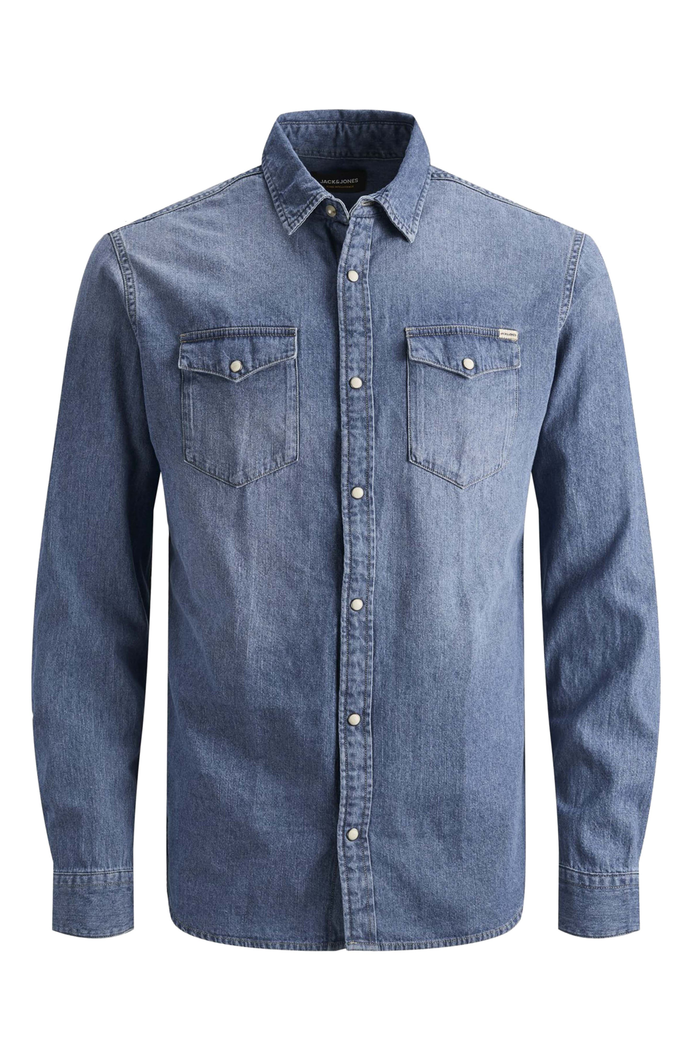 Image of JACK & JONES Sheridan Western Slim Fit Denim Shirt