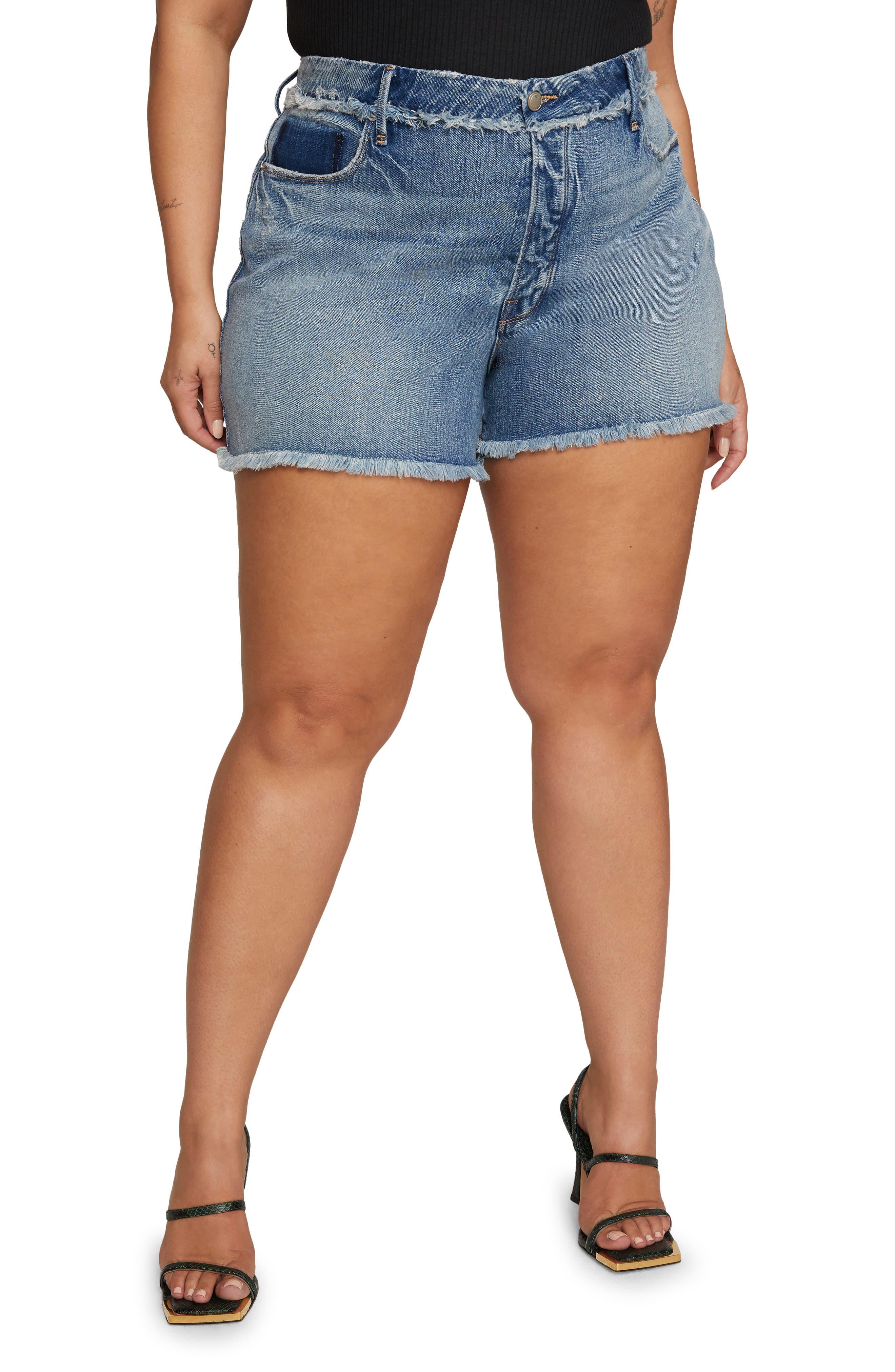 Bombshell Shadow Pocket Denim Shorts