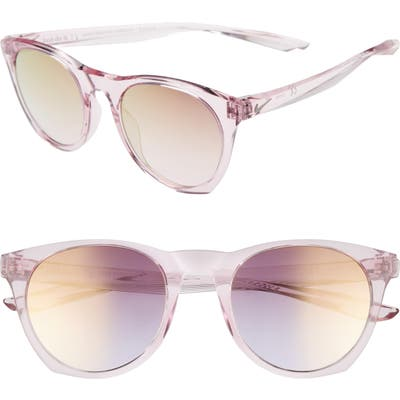 Nike Essential Horizon 51Mm Mirror Sunglasses - Plum Chalk/ Pink