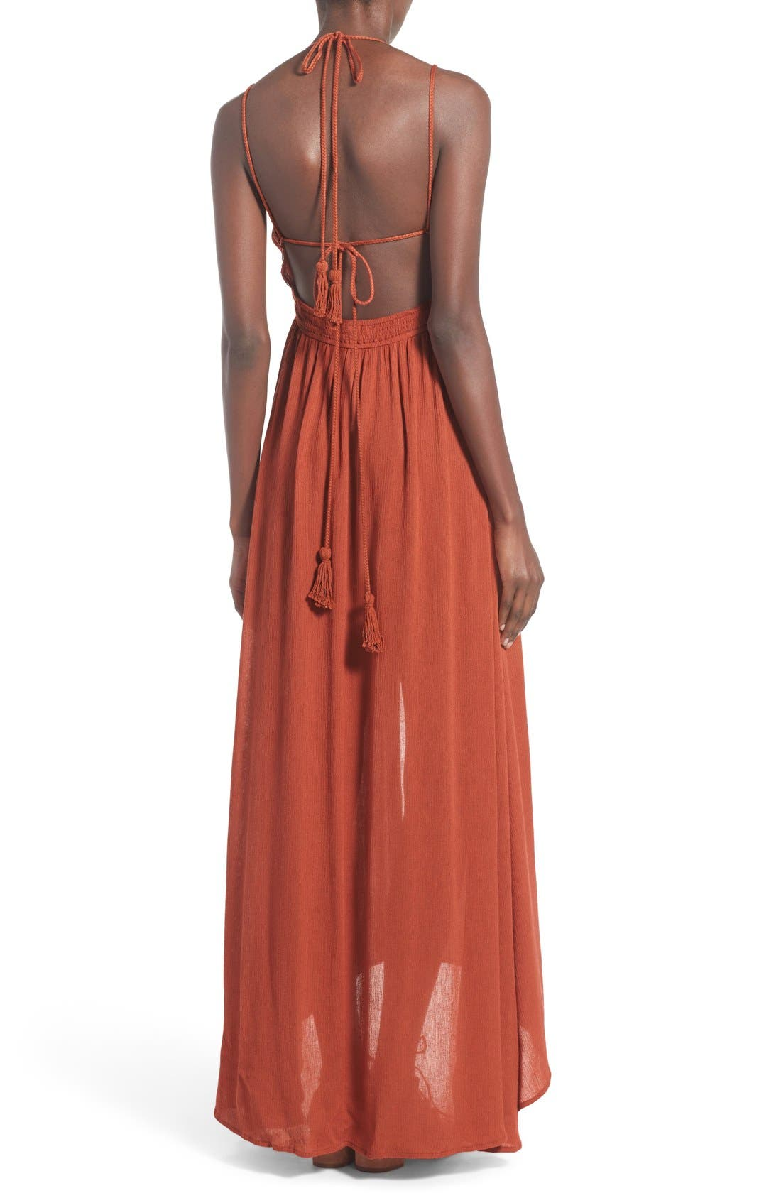 ,                             ASTR 'Belen' Maxi Dress,                             Alternate thumbnail 7, color,                             800