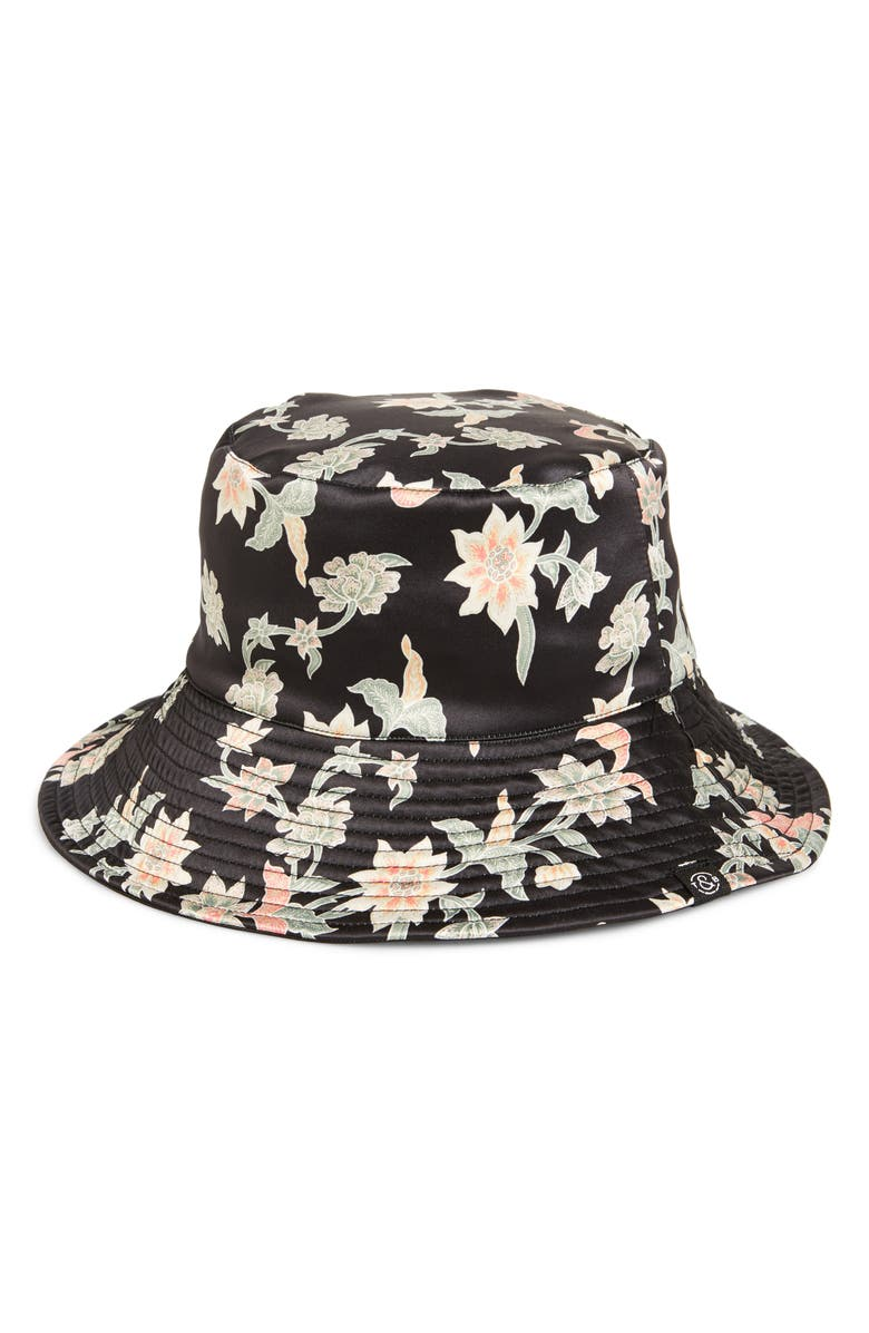 TREASURE & BOND Reversible Bucket Hat, Main, color, BLACK COMBO