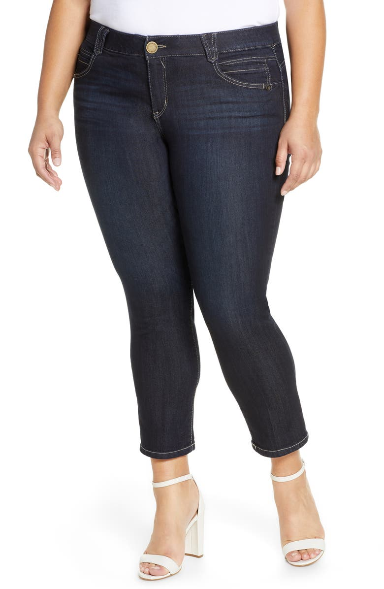 WIT & WISDOM Skimmer Ab-Solution High Waist Crop Skinny Jeans, Main, color, 402