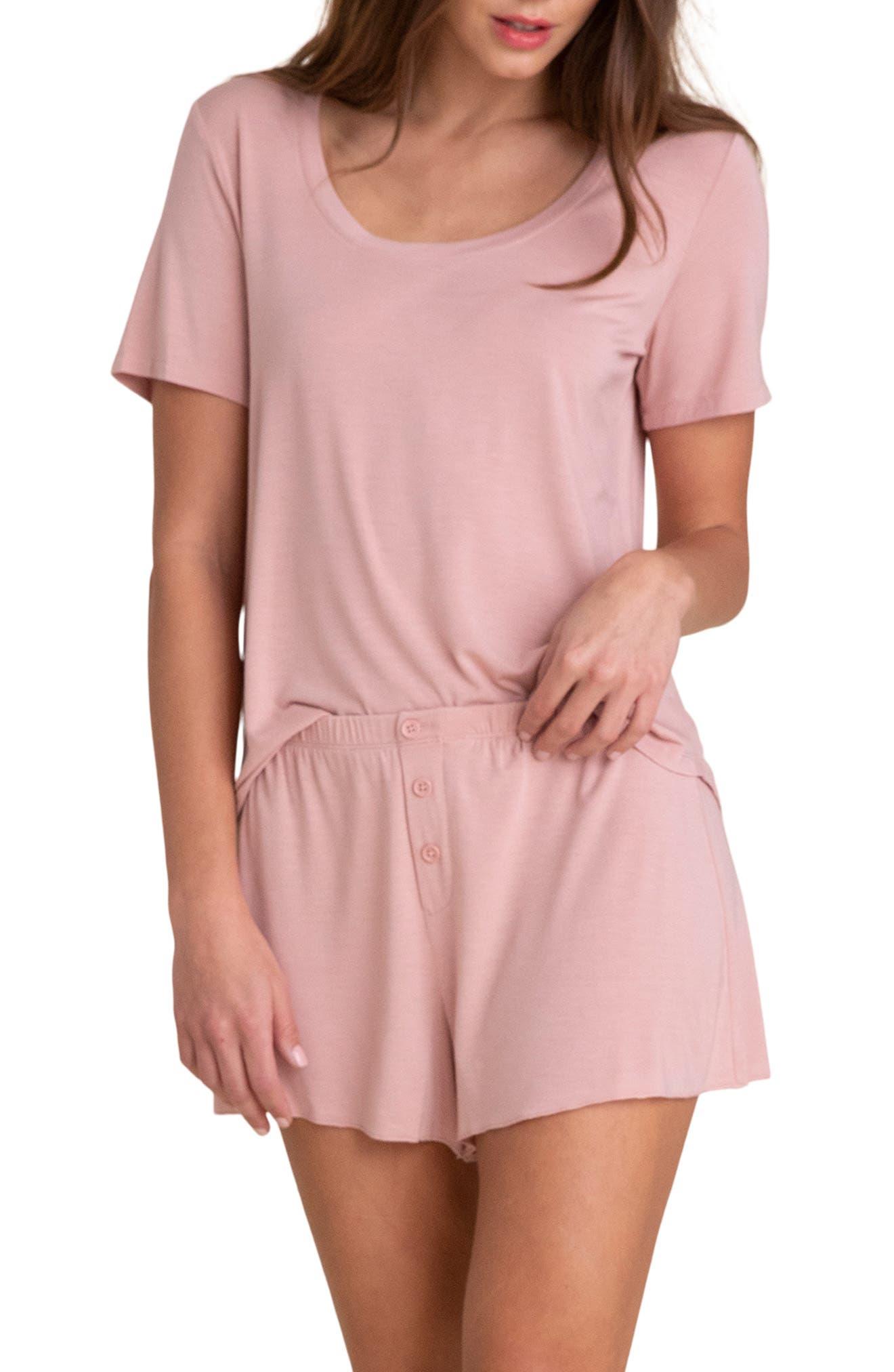 Women's Barefoot Dreams Luxe Jersey Short Pajamas