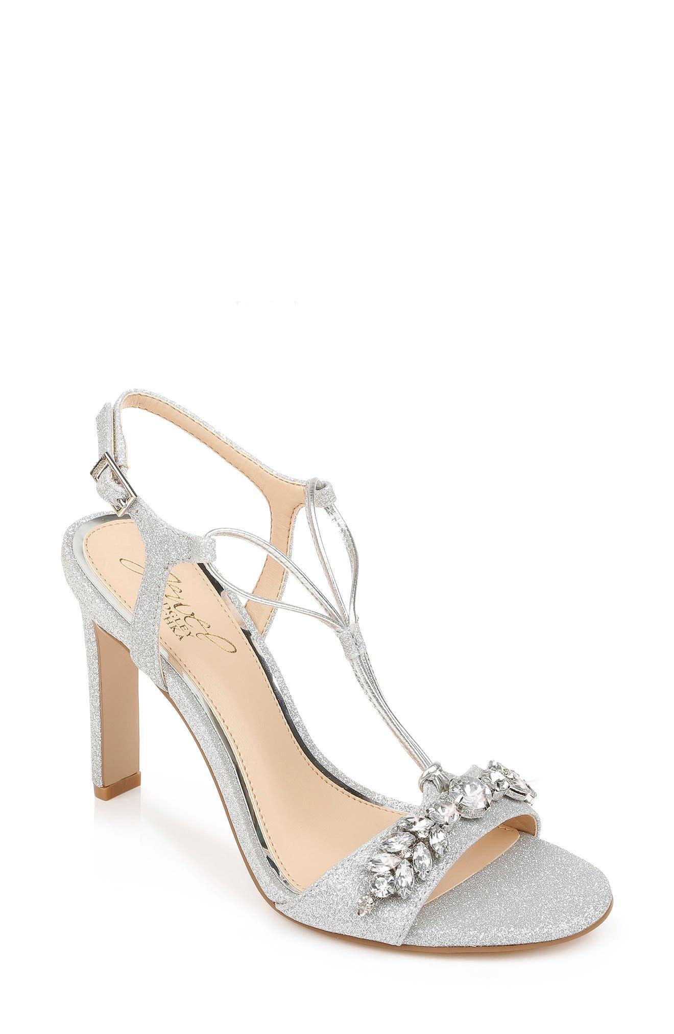 Women's Badgley Mischka Peaches Embellished T-Strap Sandal