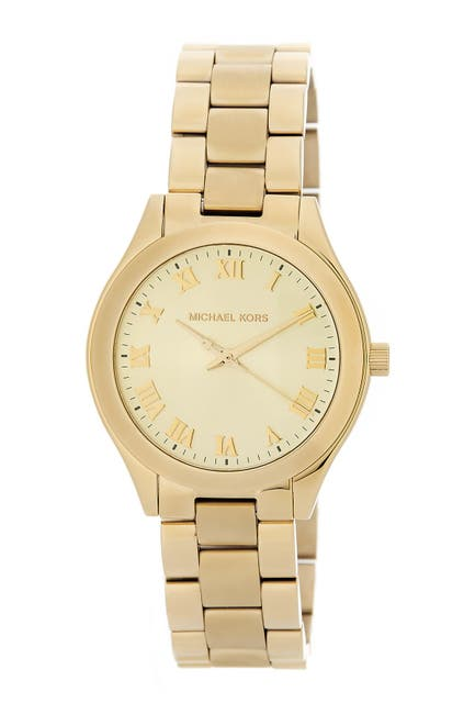 Image of MICHAEL Michael Kors Women's Slim Runway Bracelet Watch, 33mm