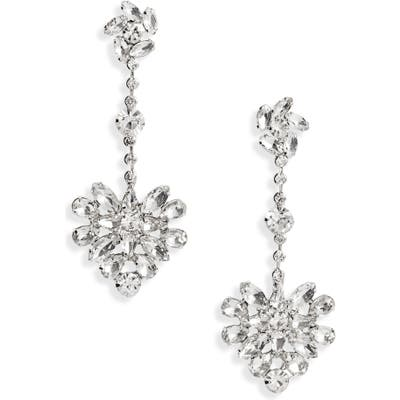 Cristabelle Crystal Floral Cluster Drop Earrings