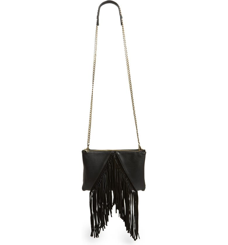 Street Level Fringe Crossbody Bag