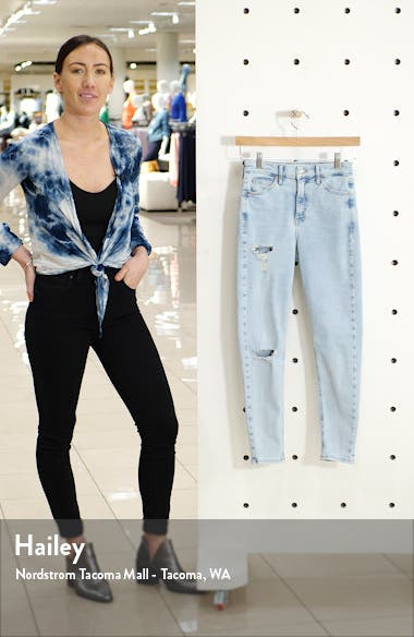 Jamie Brooklyn Rip High Waist Skinny Jeans, sales video thumbnail