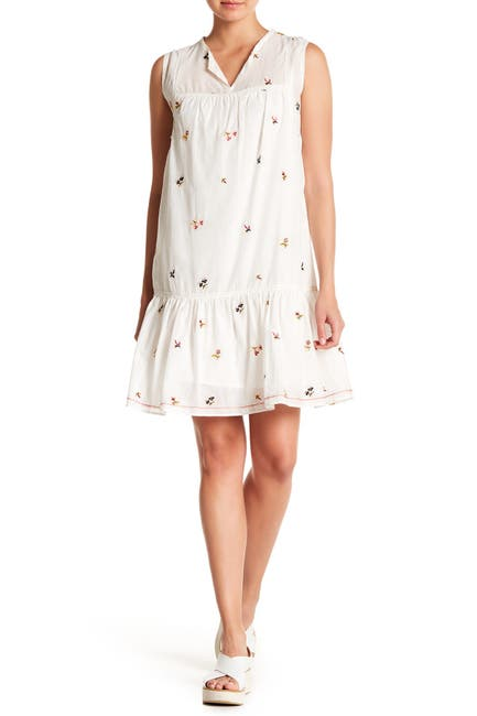 Image of Max Studio Embroidered Babydoll Dress