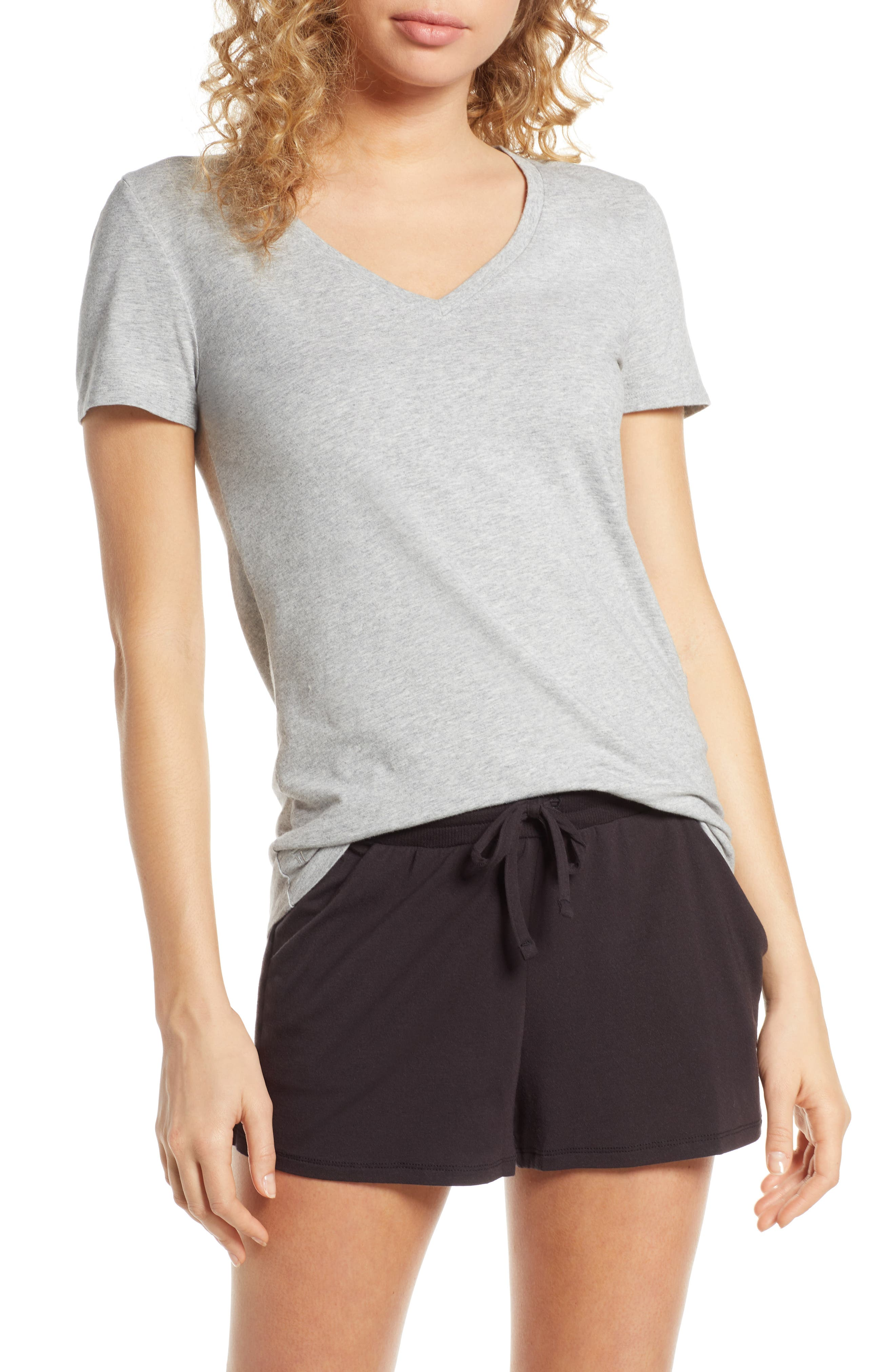 Tommy John Second Skin V-Neck Tee, Grey