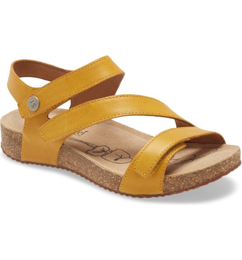 JOSEF SEIBEL 'Tonga' Leather Sandal, Main, color, YELLOW LEATHER