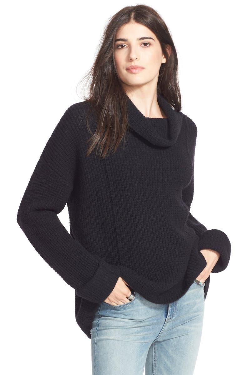FREE PEOPLE 'Sidewinder' Wool Pullover, Main, color, 001