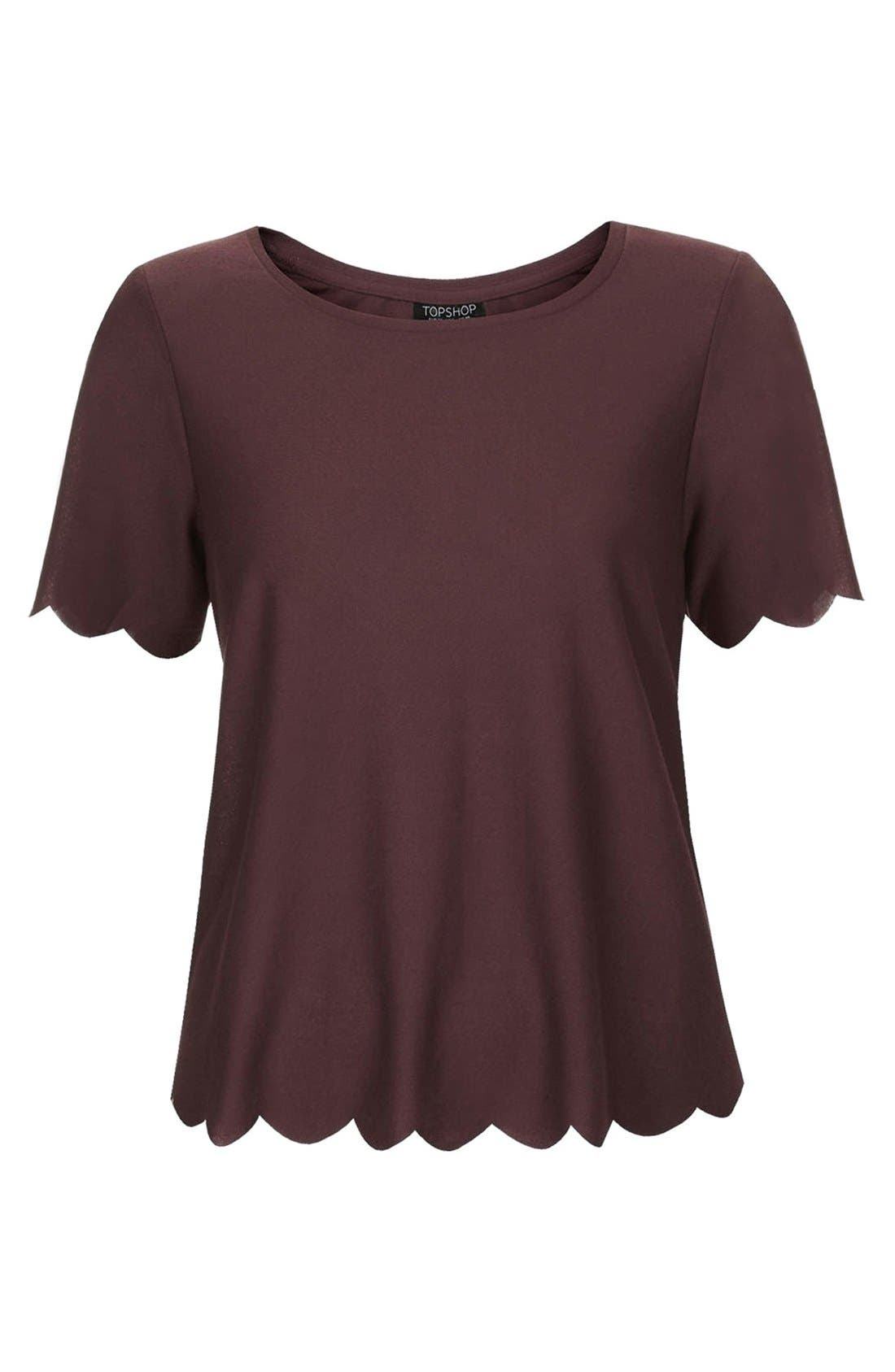 ,                             Scallop Frill Tee,                             Alternate thumbnail 42, color,                             930