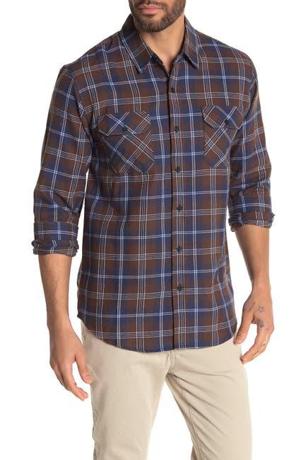 Image of Coastal Tumbleweed Plaid Flannel Modern Fit Shirt