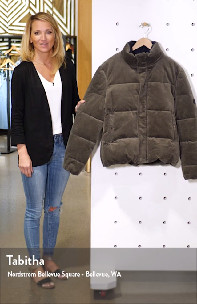 Vanguard Corduroy Puffer Jacket, sales video thumbnail
