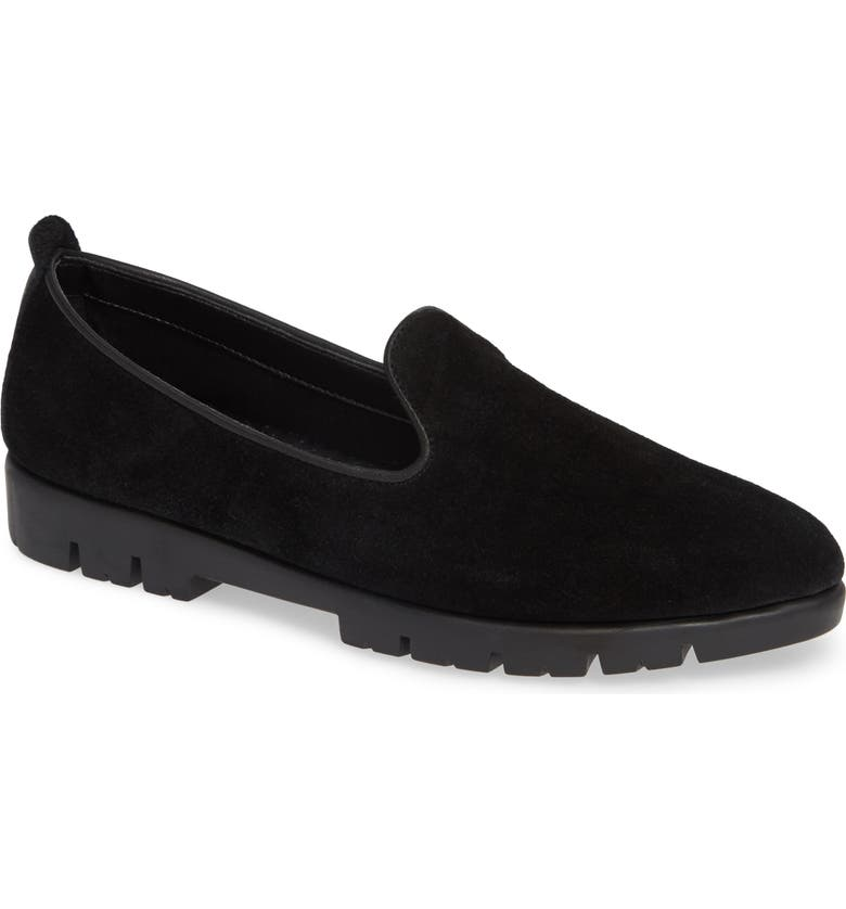 THE FLEXX Smokin' Hot Plush Loafer, Main, color, BLACK SUEDE