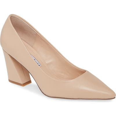Charles David Arsenal Pointed Toe Pump- Beige