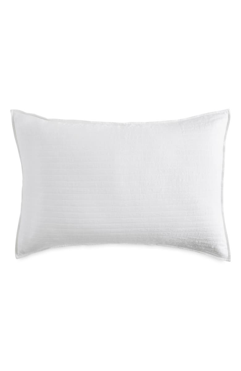 DKNY PURE Comfy White Pillow Sham, Main, color, WHITE