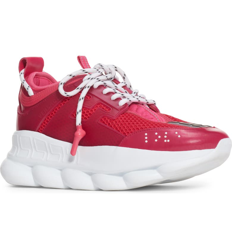 VERSACE FIRST LINE Versace Chain Reaction Sneaker, Main, color, FUSCHIA