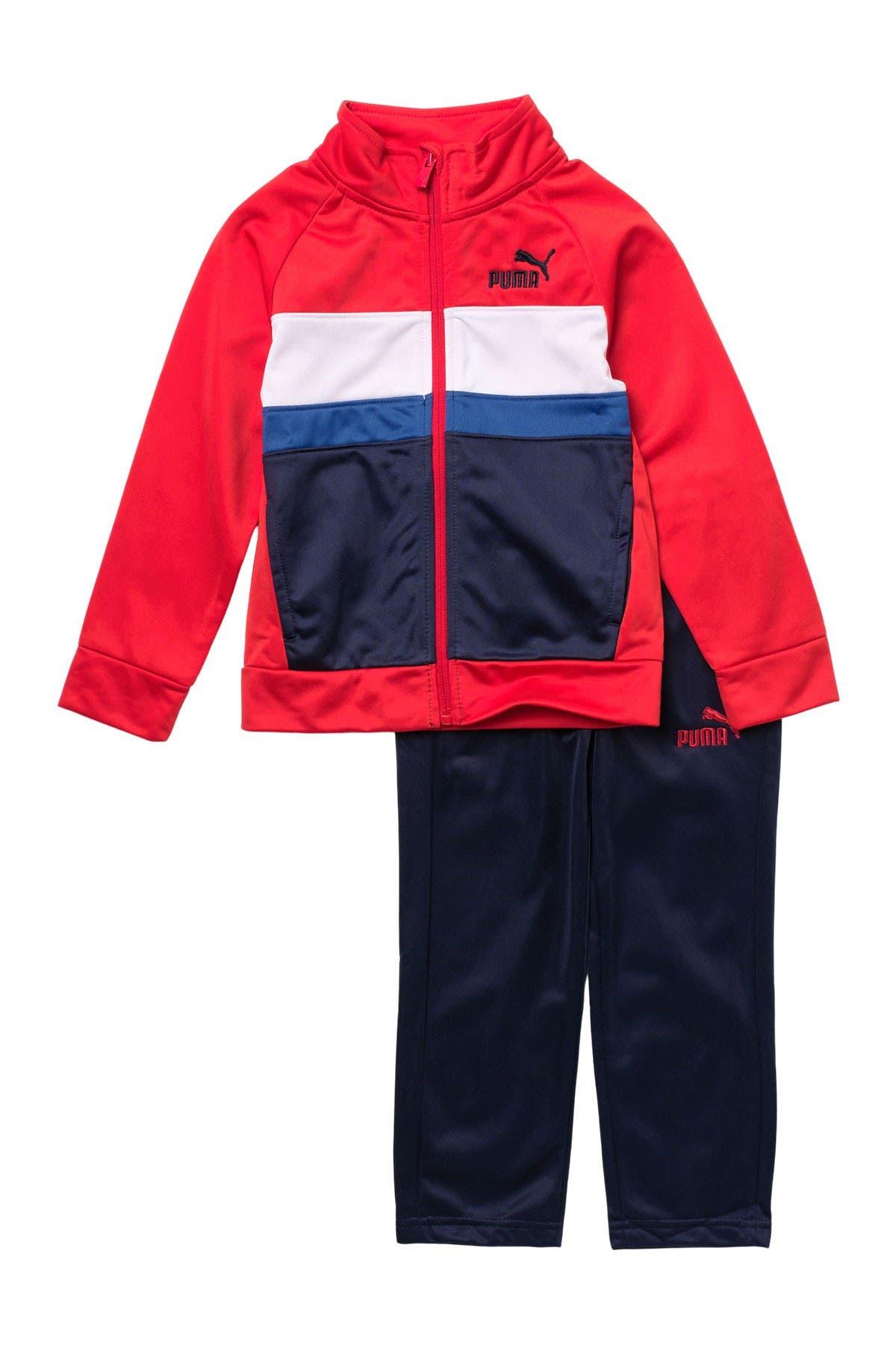 PUMA Baby Boys 2-Piece Zip up Track Jacket and Pant Set