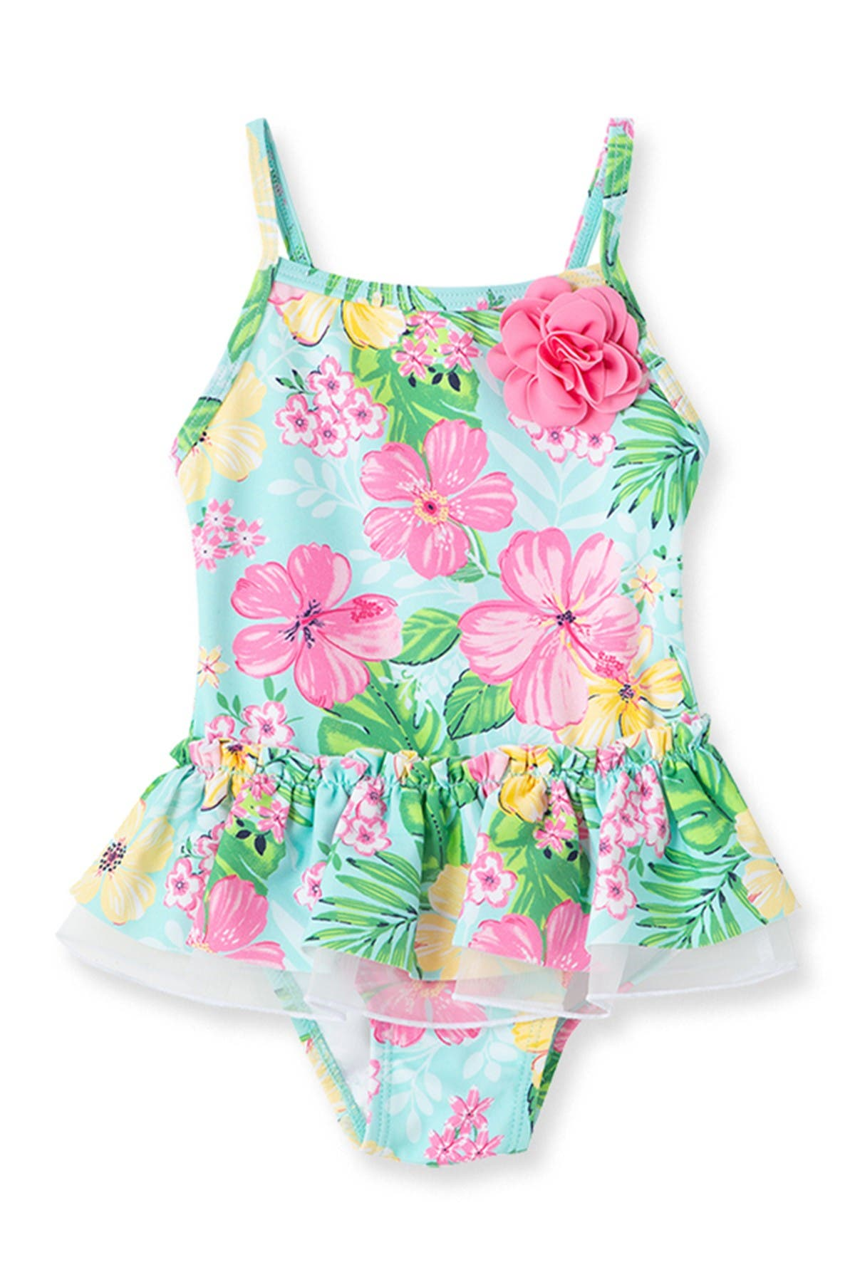 Image of Little Me Tropical Swimsuit