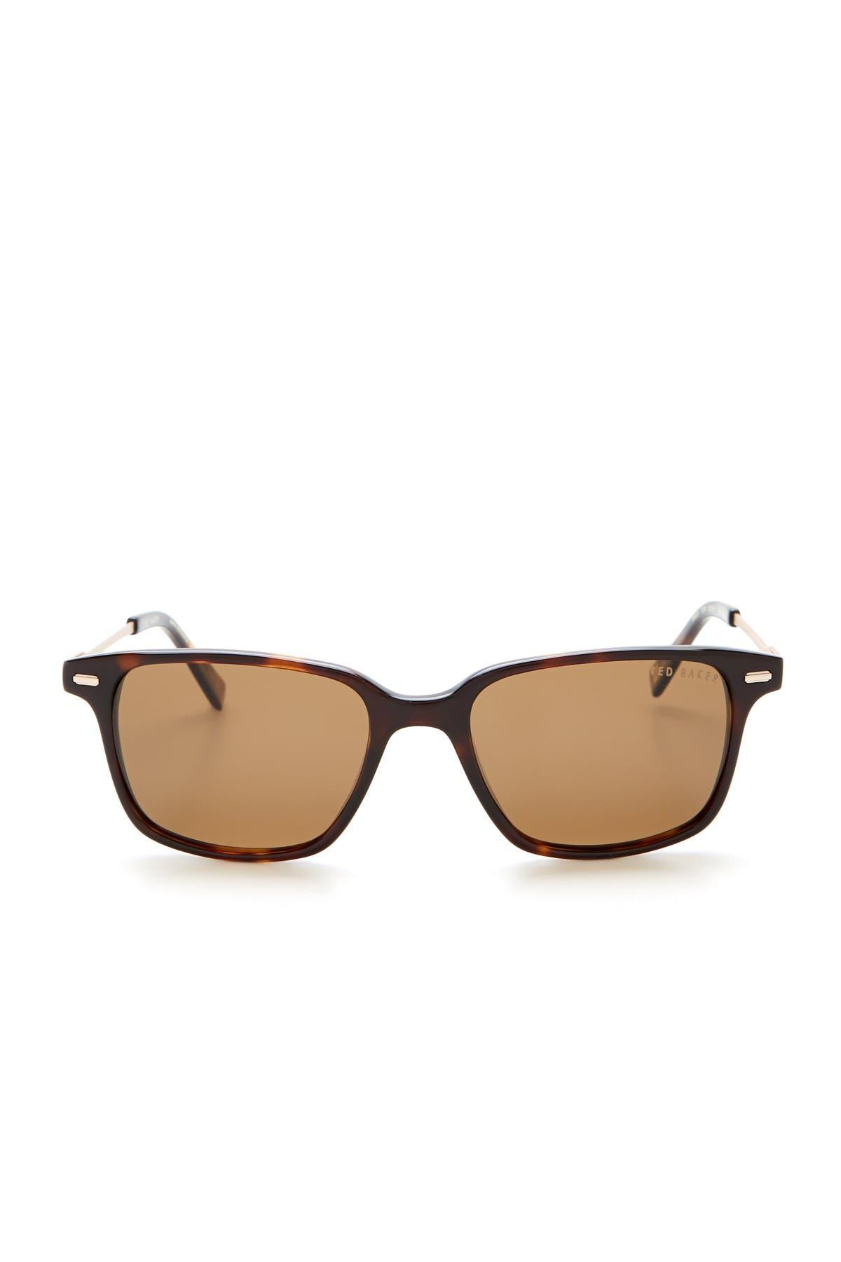 Image of Ted Baker London 52mm Square Polarized Plastic Frame Sunglasses