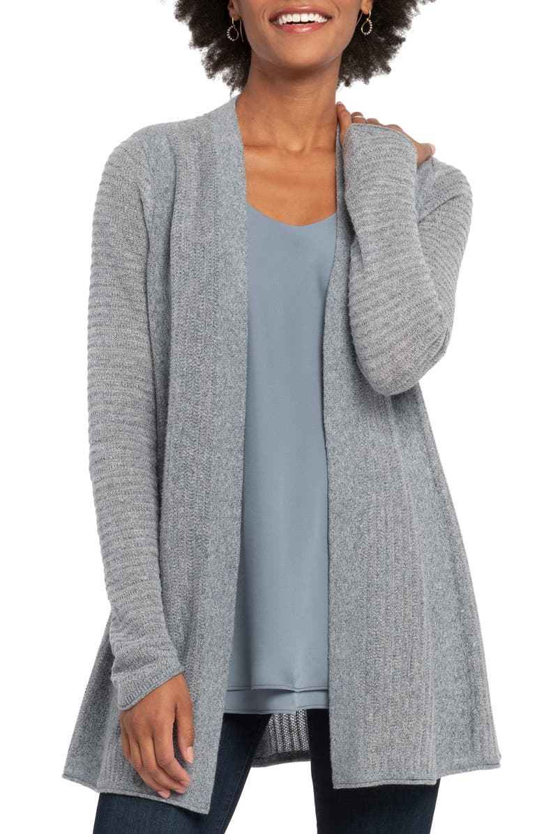 NIC+ZOE Warm Up Cardigan, Main, color, WASHED SLATE