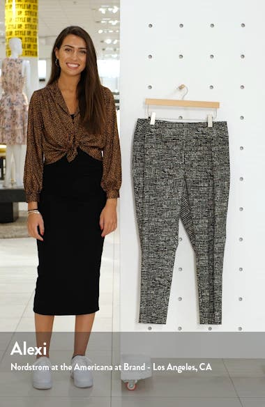 Abstract Tweed Print Wonder Stretch Trousers, sales video thumbnail