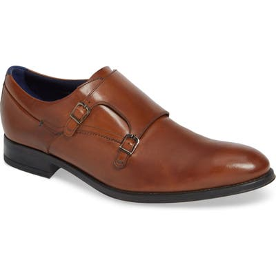 Ted Baker London Cathon Double Buckle Monk Shoe, Brown