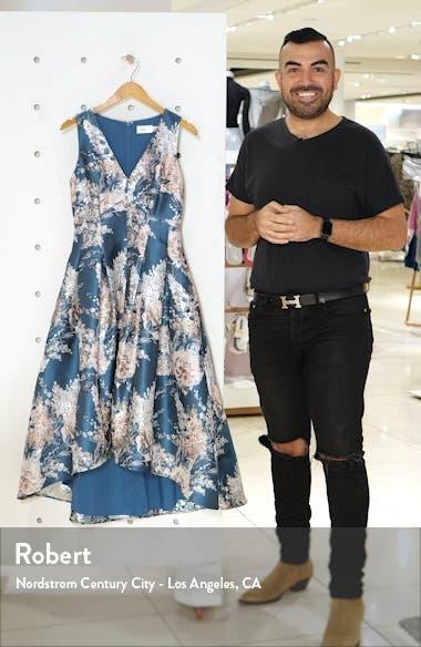 Metallic Floral Jacquard High/Low Dress, sales video thumbnail