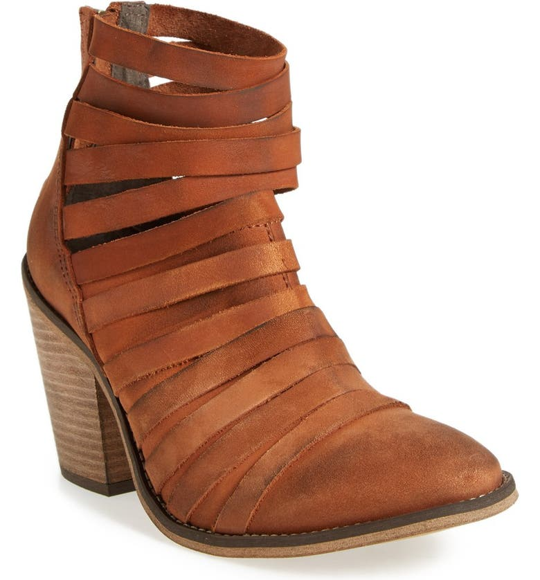 FREE PEOPLE 'Hybrid' Strappy Leather Bootie, Main, color, 209