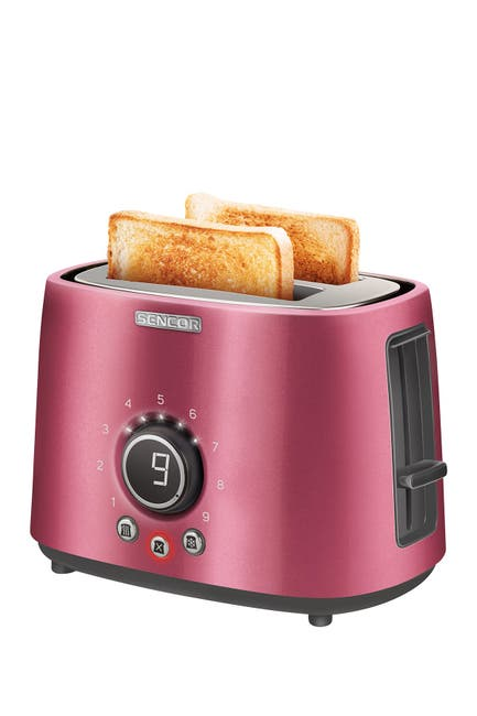 Image of SENCOR Red Digital 2-Slot Toaster