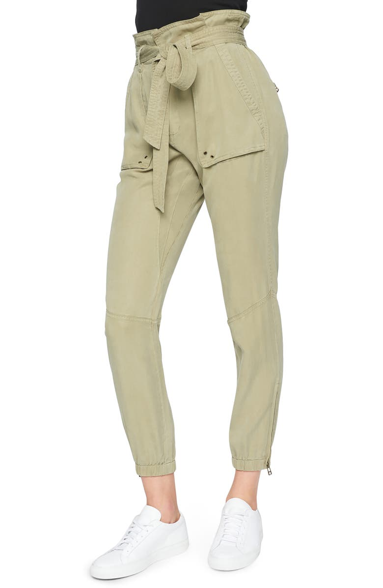 PAM & GELA Paperbag Waist Pants, Main, color, WHEAT