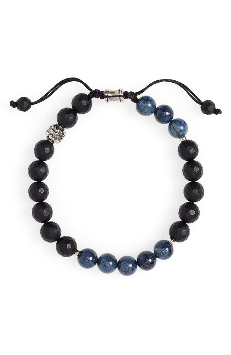 JONAS STUDIO Stone Bead Bracelet, Main, color, BLACK/ BLUE