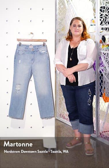x Marianna Hewitt Jerry Ripped High Waist Vintage Crop Straight Leg Jeans, sales video thumbnail