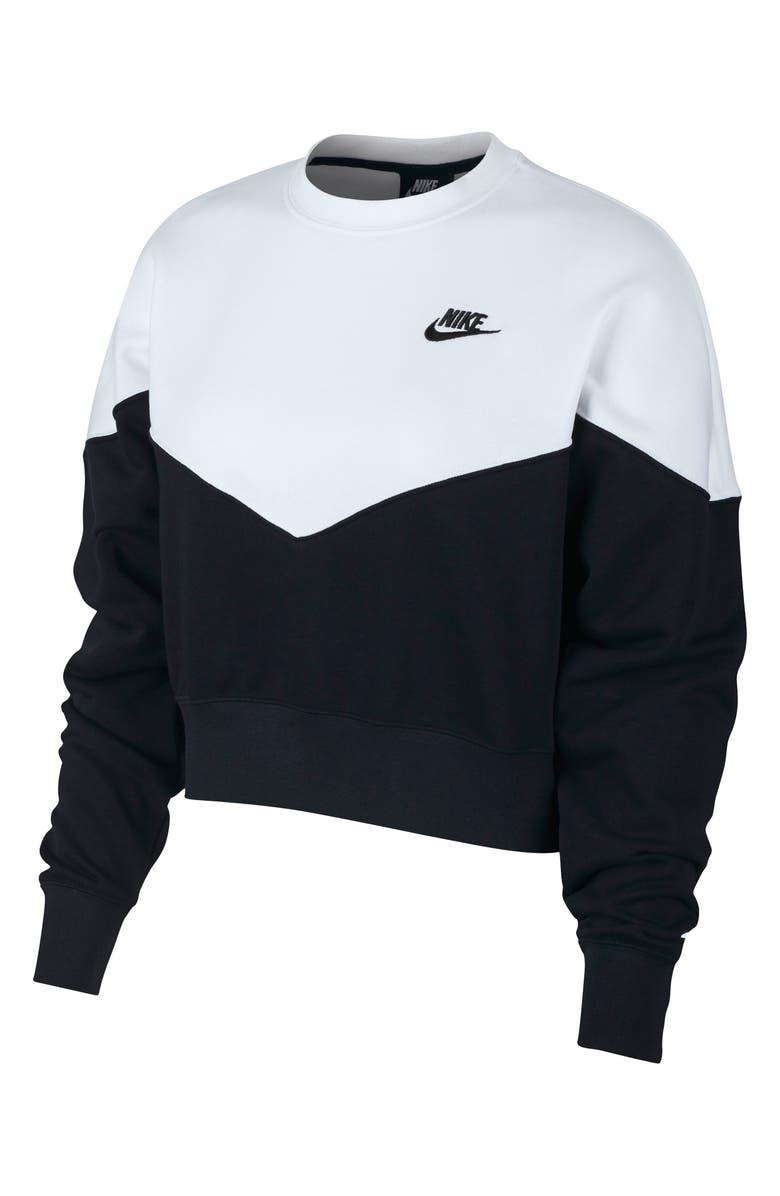 NIKE Sportswear Heritage Fleece Sweatshirt, Main, color, 010