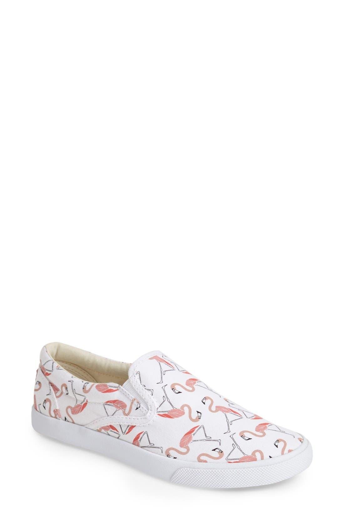 ,                             'Flamingos' Slip-On Sneaker,                             Main thumbnail 1, color,                             100