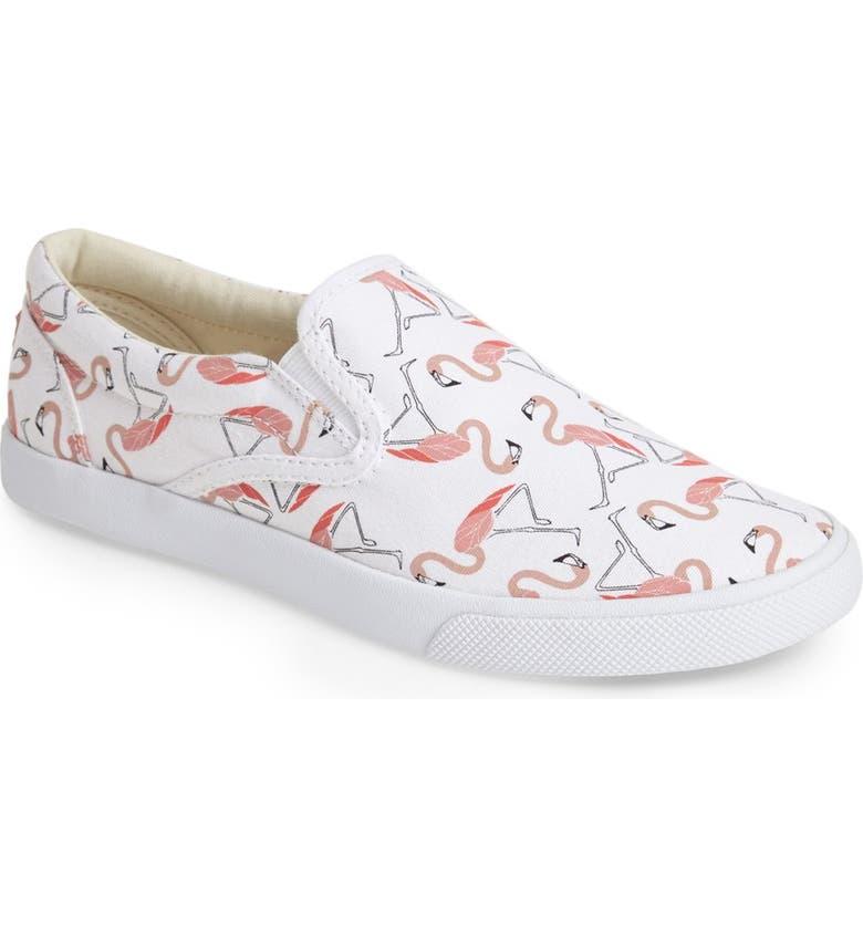 BUCKETFEET 'Flamingos' Slip-On Sneaker, Main, color, 100