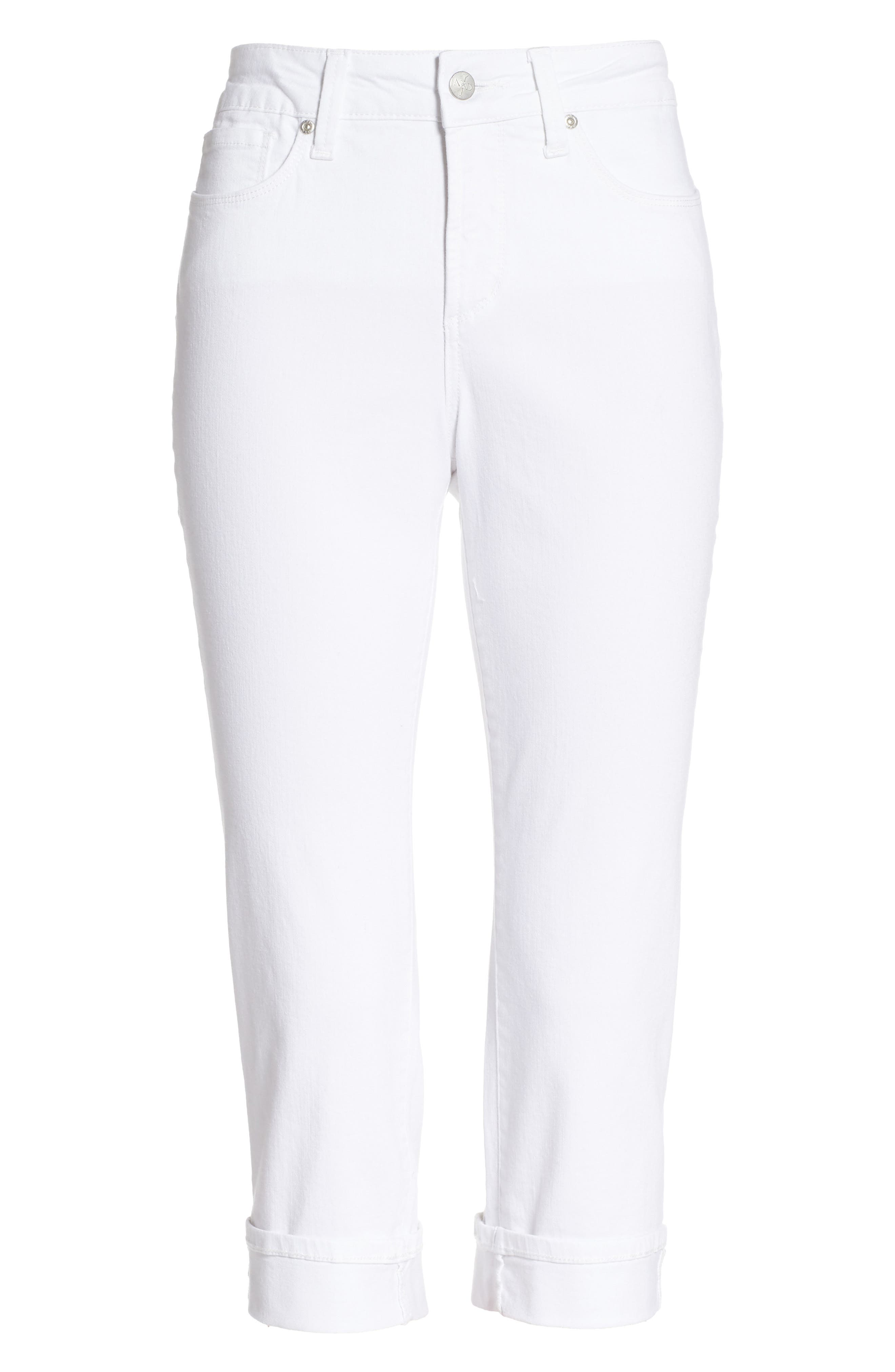 ,                             Marilyn Crop Jeans,                             Alternate thumbnail 5, color,                             OPTIC WHITE
