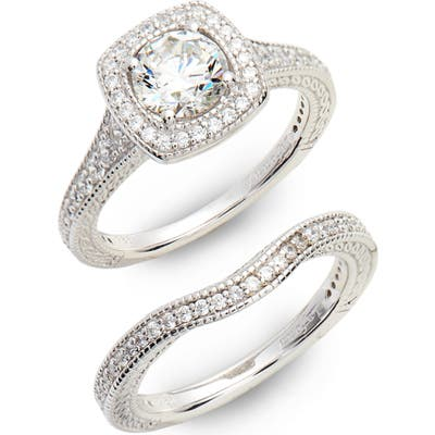 Lafonn Cushion Cut Halo Ring Set