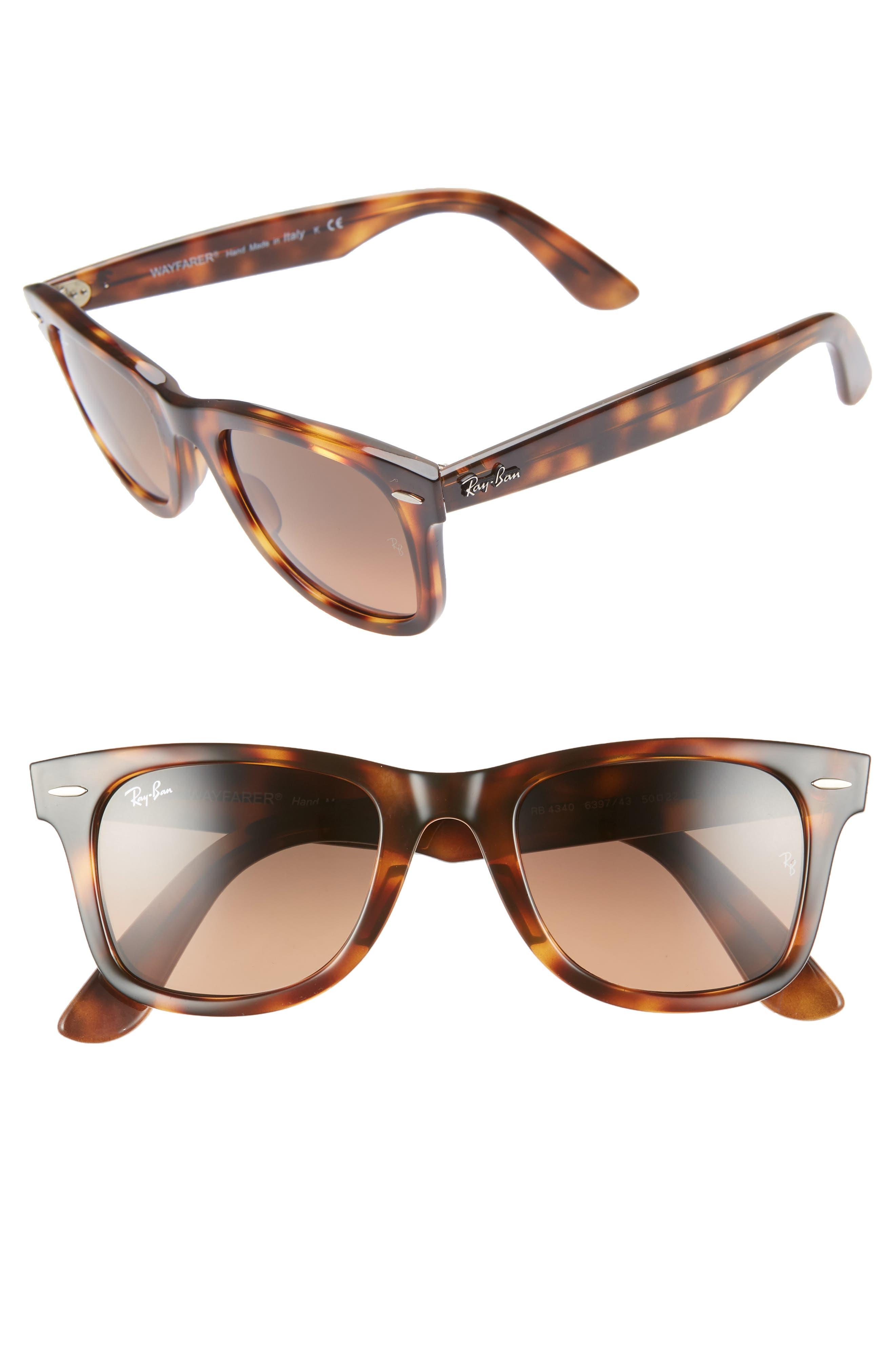 Ray-Ban 50Mm Wayfarer Ease Gradient Sunglasses - Brown/ Grey Gradient