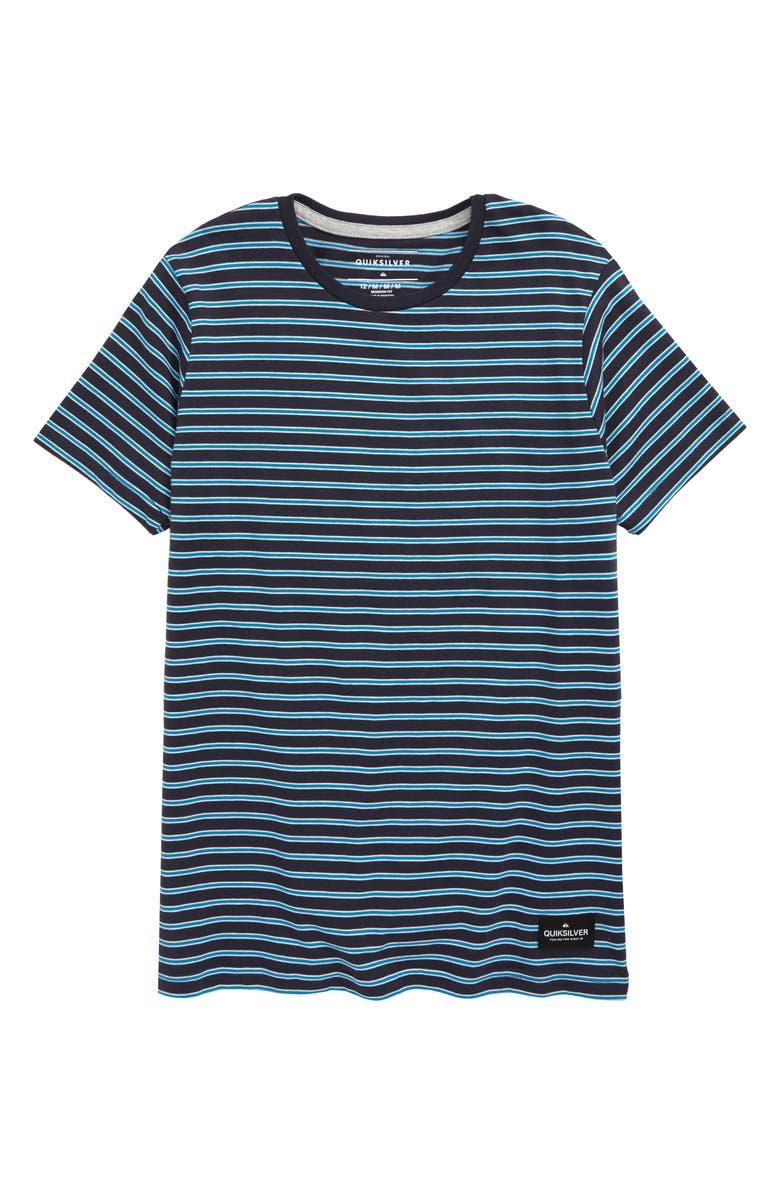 QUIKSILVER Broken Hills Stripe T-Shirt, Main, color, 402