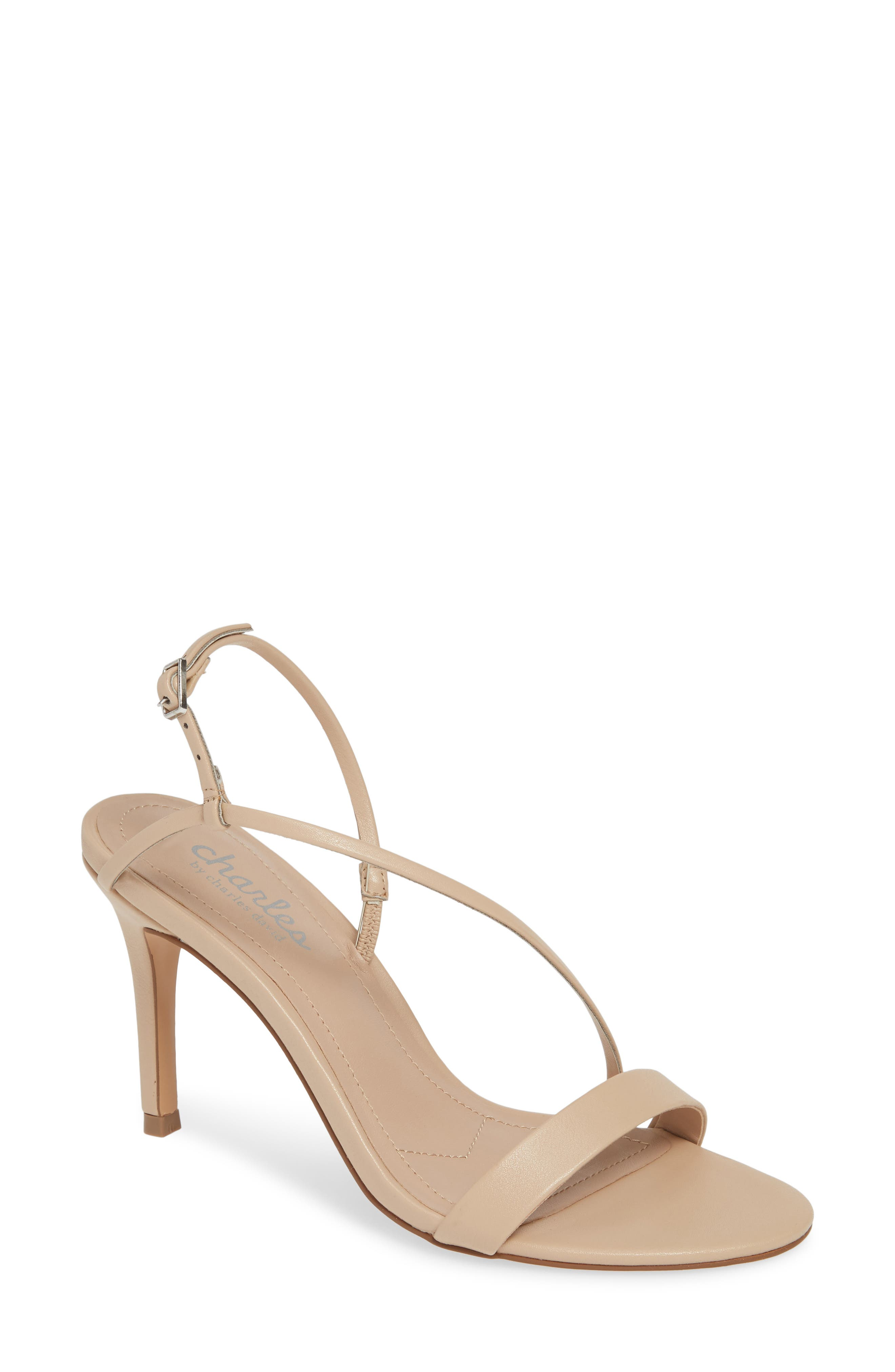 Charles By Charles David Hardy Strappy Slingback Sandal, Beige