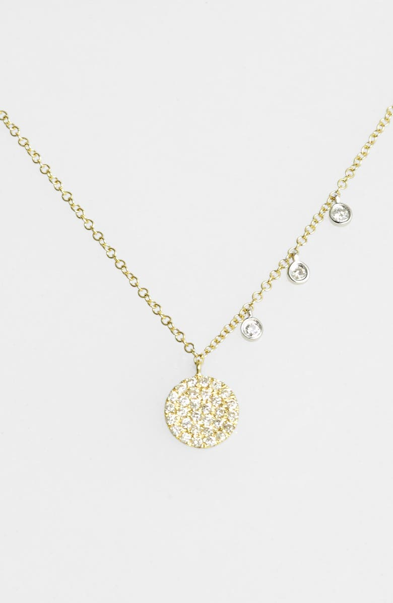 Meira T Dazzling Diamond Disc Pendant Necklace