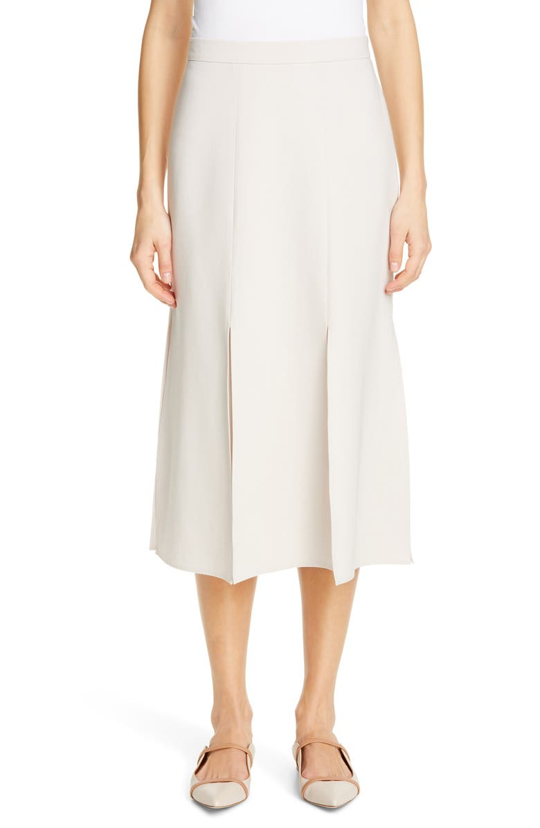 MAX MARA Road A-Line Midi Skirt, Main, color, ICE