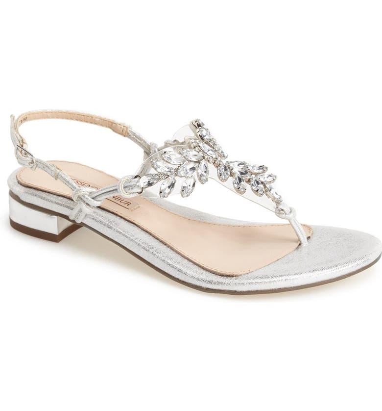 MENBUR 'Delia' Crystal Thong Sandal, Main, color, 040