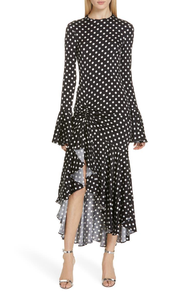 a805795eedd Caroline Constas Monique Polka Dot Midi Dress | Nordstrom