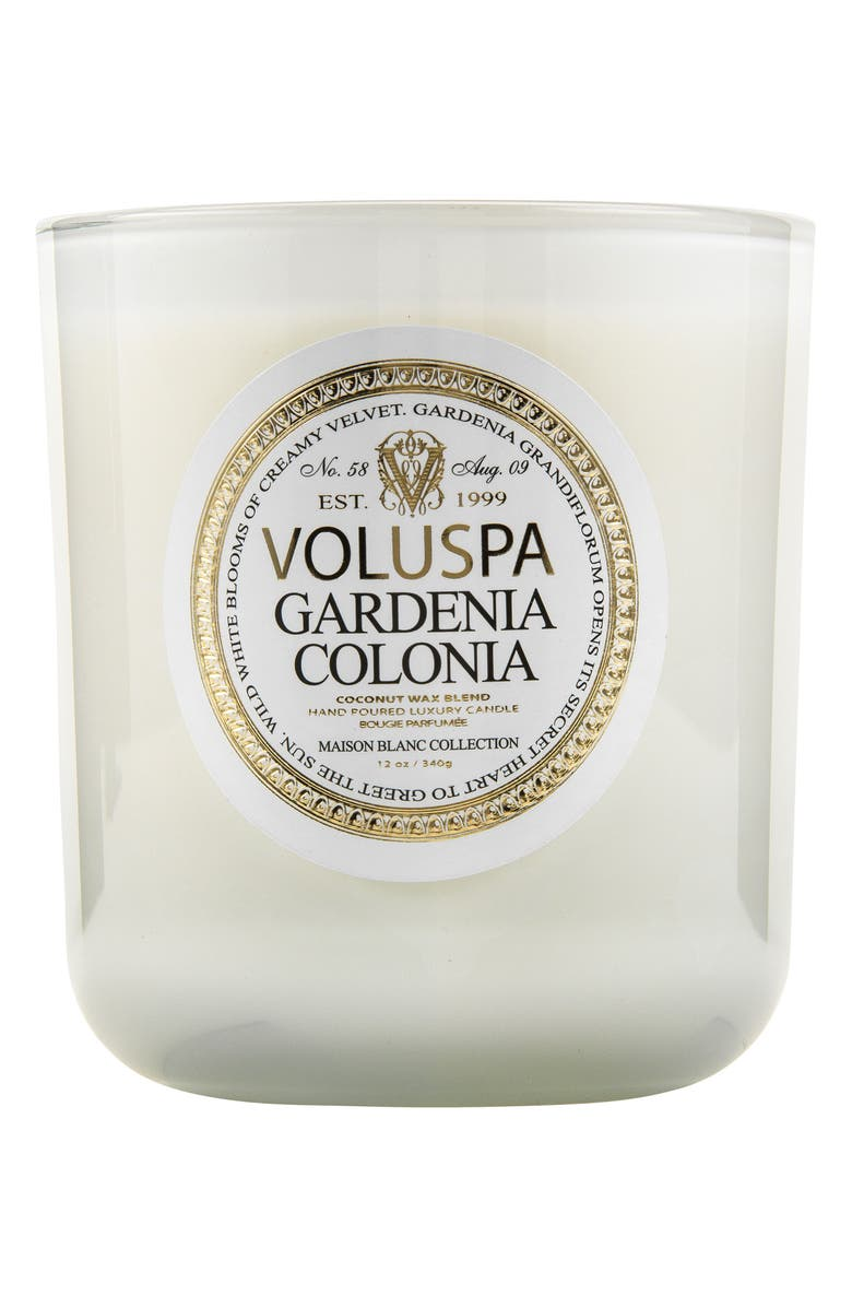 VOLUSPA Maison Blanc Gardenia Colonia Classic Maison Candle, Main, color, 000