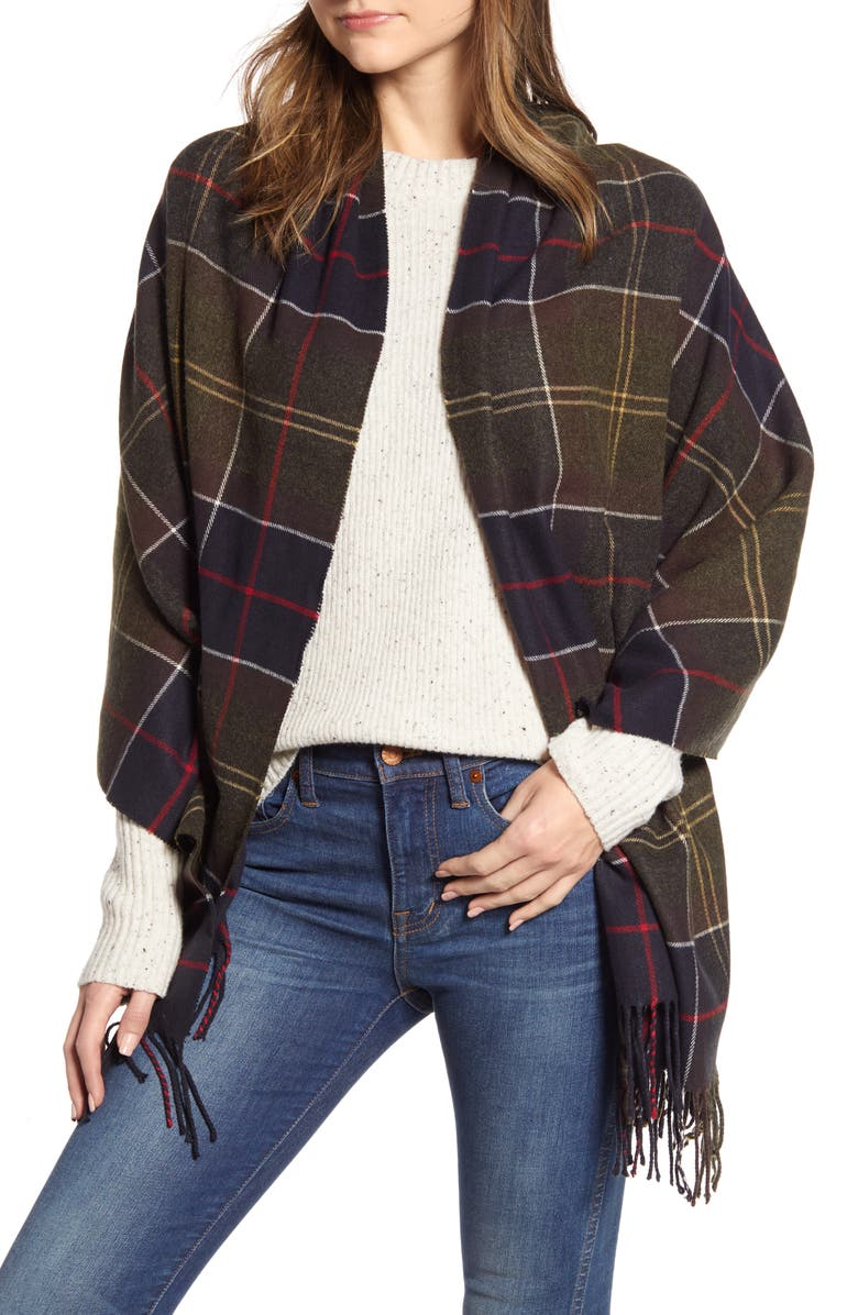 BARBOUR Hailes Tartan Wrap, Main, color, 300