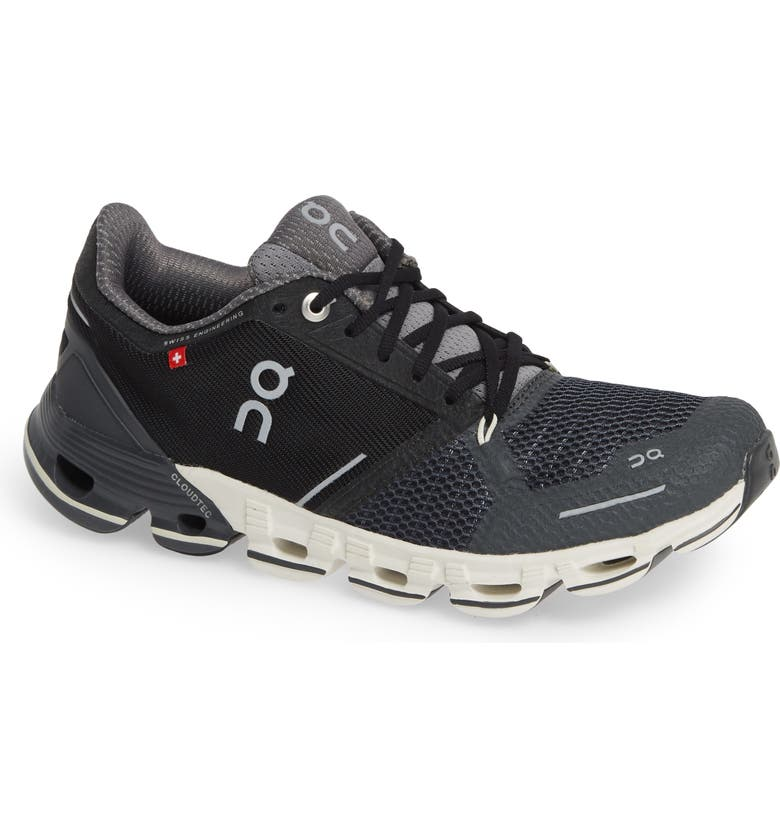 ON RUNNING Cloudflyer Running Shoe, Main, color, BLACK/ WHITE
